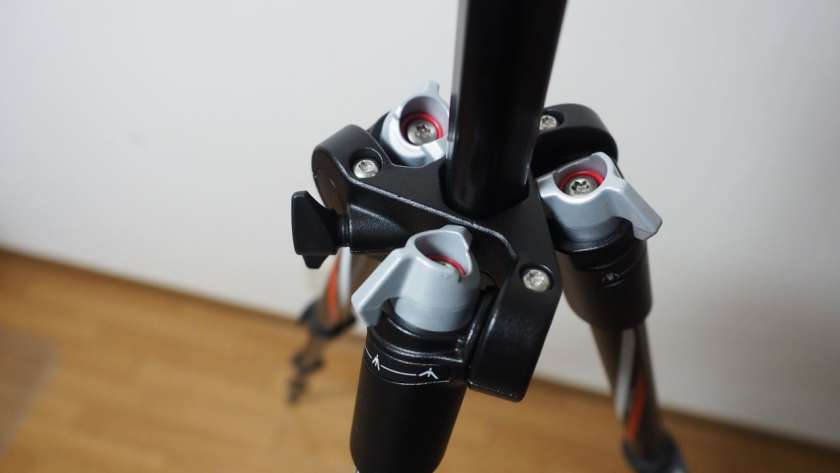 befree の脚固定機能を中間に設定した様子。