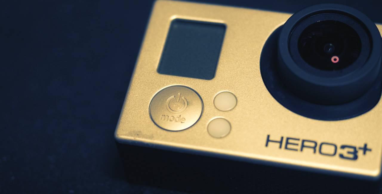 GoPro HERO3 のイメージ。