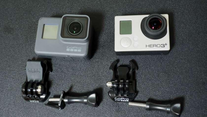 HERO5 と HERO3+ の比較。