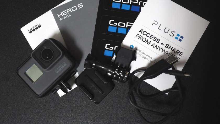 HERO5 の梱包物一覧。